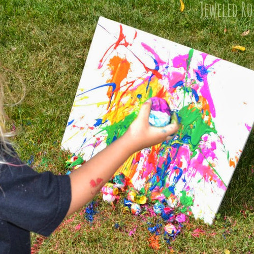 Painting with eggs