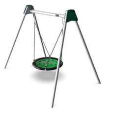 Large swing with shell seat