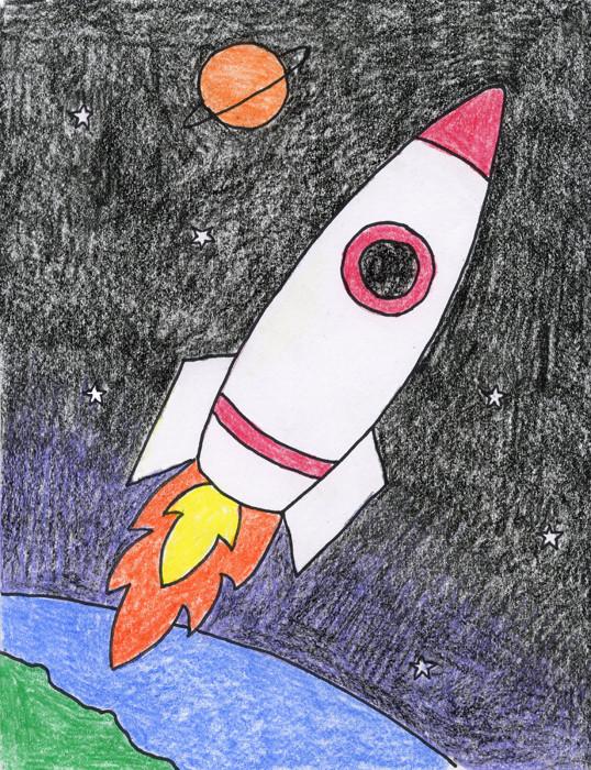 Draw a rocket / alien