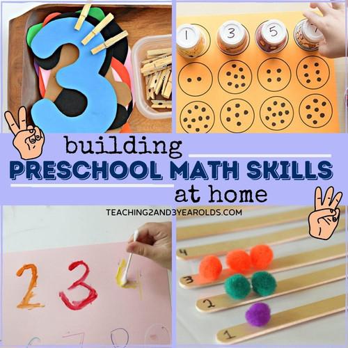 Building preschool maths skills at home