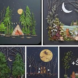 Make night time nature scene