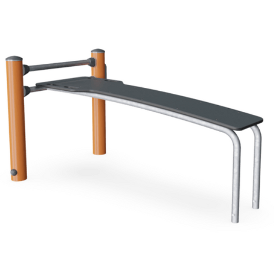 Straight fitness bench
