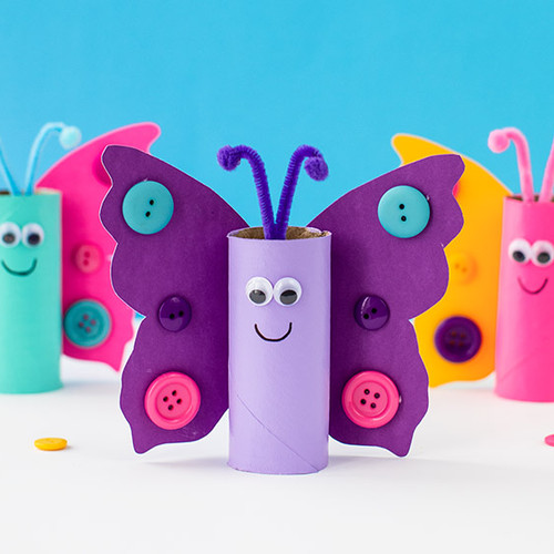 Make your own toilet roll butterfly!