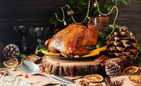 Roast chicken or turkey for Christmas Di