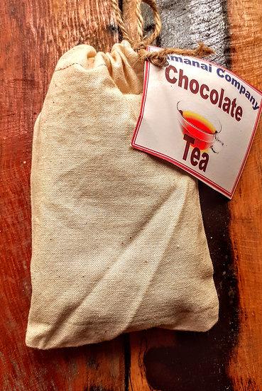 Chocolate tea 2 oz, hand sewn bag