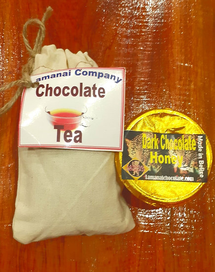 Chocolate tea 1.75 oz  dark choc. Honey 3 oz