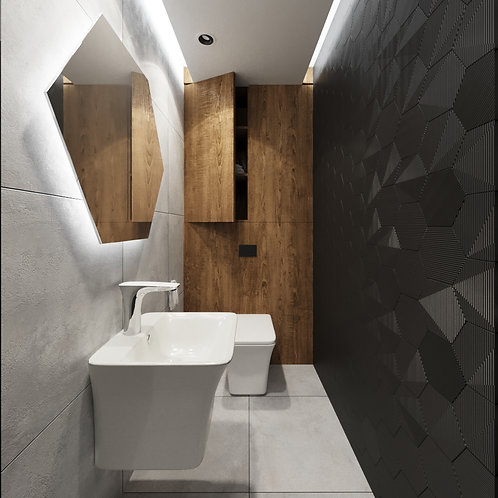 Toaleta HEKSAGON 2,6m2