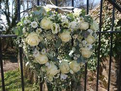 love heart wedding gate