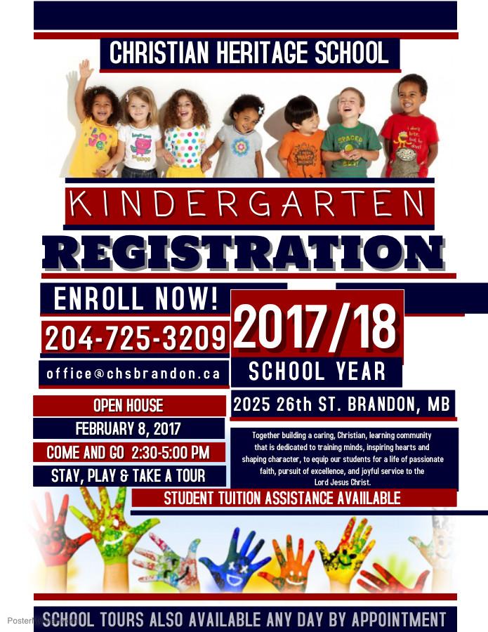 Registration Poster for Kindergarten!