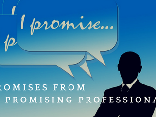 5 Promises From The Promising Professional