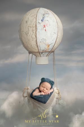 Baby flying high
