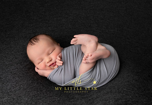 Studio newborn shoot
