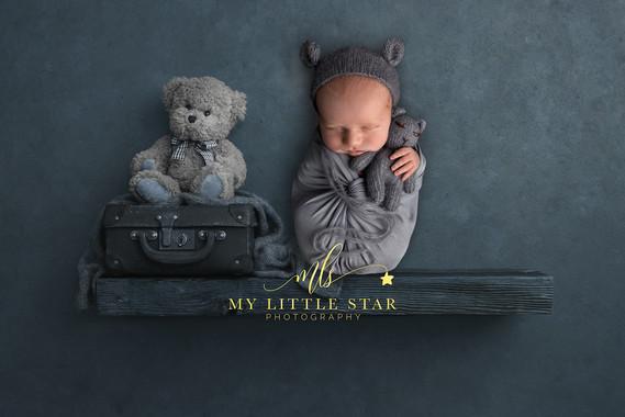 Baby on a shelf
