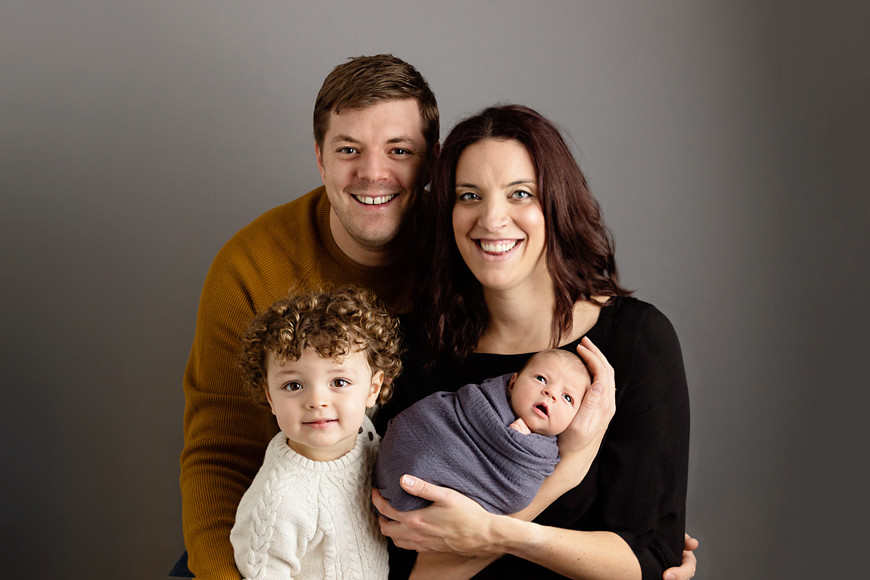 Newborn family pose