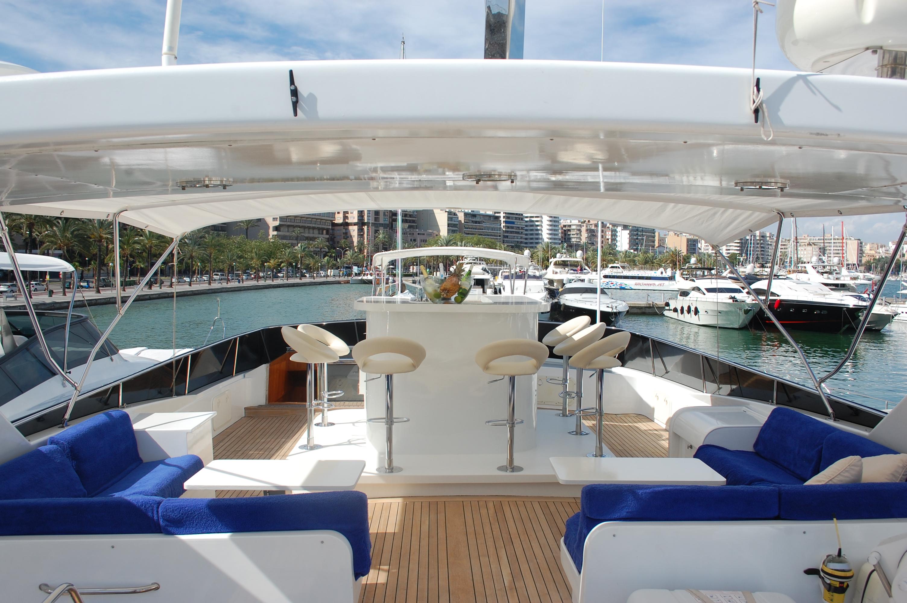 Motoryacht Deck