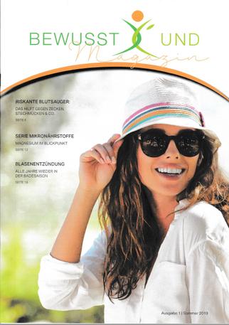 Smilings im Bewusst X'und Magazin - Ausgabe Sommer 2019