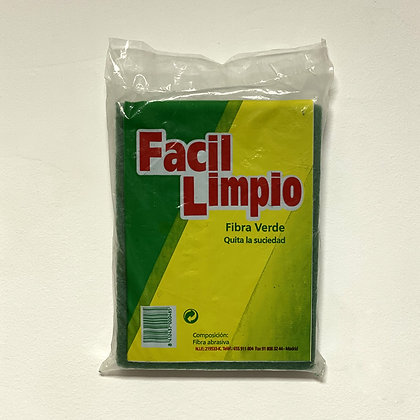 FIBRA VERDE - FACIL LIMPIO (4 unidades)