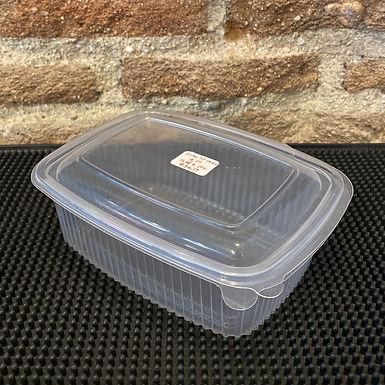 ENVASE OVAL PP BISAGRA 1000 ml - (Paquete 50 unidades)