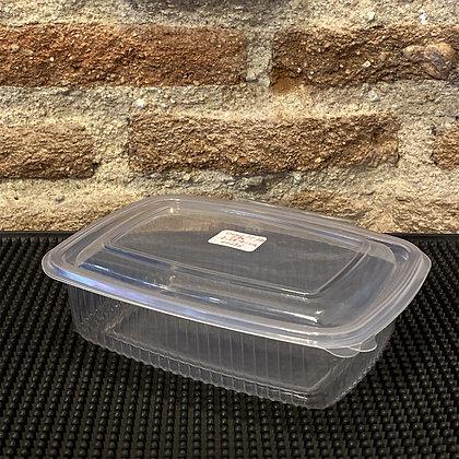 ENVASE OVAL PP BISAGRA 750 ml - (Paquete 50 unidades)