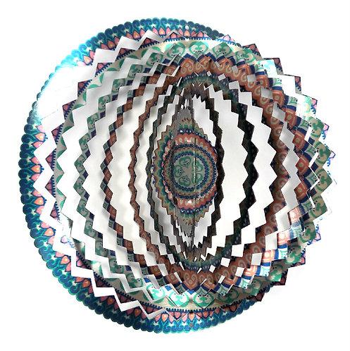 WorldaWhirl 3D Wind Spinner, Mandala 2 Multi Pastel