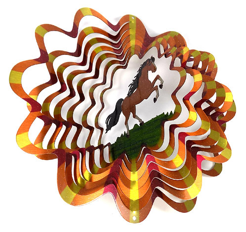 WorldaWhirl 3D Wind Spinner, Horse Multi Amber