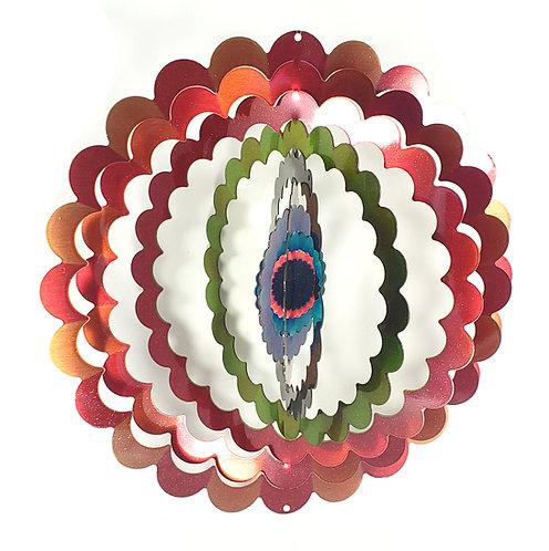 WorldaWhirl 3D Wind Spinner, Mandala Flower, Multi Color