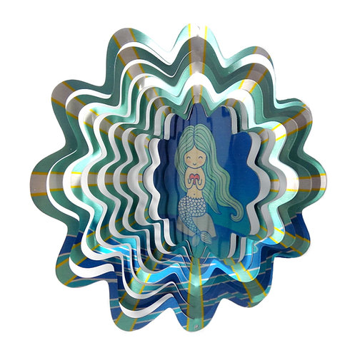 WorldaWhirl 3D Wind Spinner, Mermaid, Multi