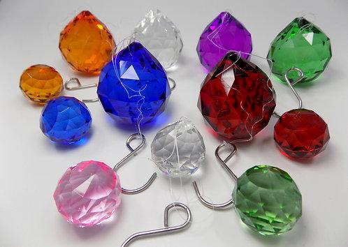 WorldaWhirl Crystal Ball Sun Catcher Rainbow Sparkle Glass Prism Feng Shui Orbs