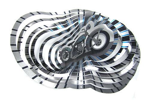 WorldaWhirl 3D Wind Spinner, Motorcycle Bike