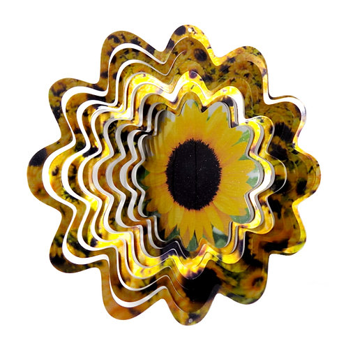 WorldaWhirl 3D Wind Spinner, Sunflower, Multi