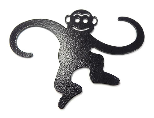 WorldaWhirl Wrinkled Black Metal Monkey Extender Hooks