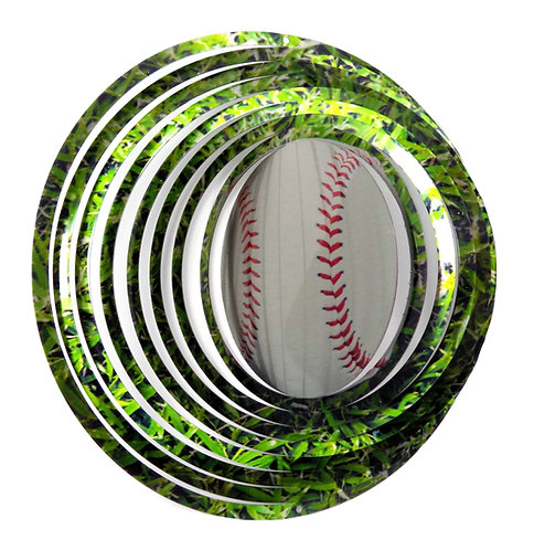 WorldaWhirl 3D Wind Spinner, Baseball, Multi