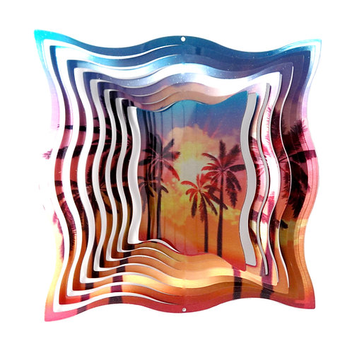 WorldaWhirl 3D Wind Spinner, Palm Tree, Multi