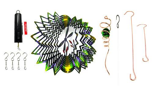 WorldaWhirl 3D Wind Spinner Bundle, Dragonfly Spiral Tail Battery Motor Set