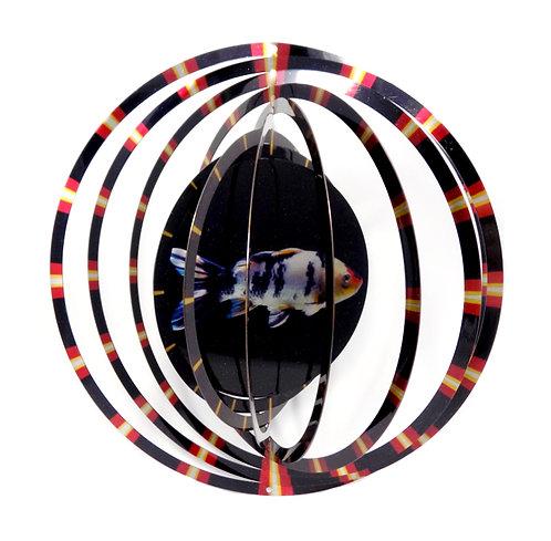WorldaWhirl 3D Wind Spinner, Koi Fish, Multi