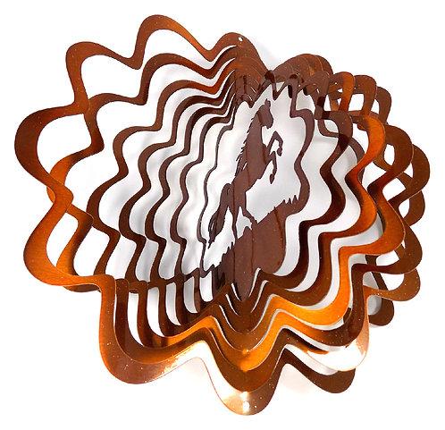 WorldaWhirl 3D Wind Spinner, Horse Copper