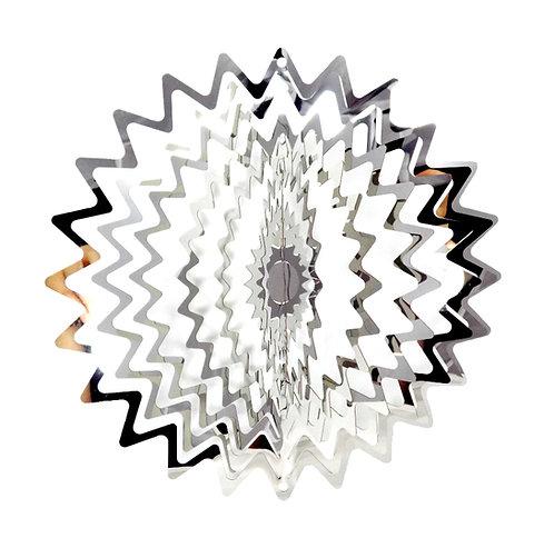 WorldaWhirl 3D Wind Spinner, Star Mandala, Mirror Finish