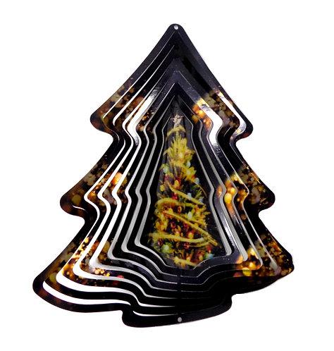 WorldaWhirl 3D Wind Spinner, Christmas Tree, Multi