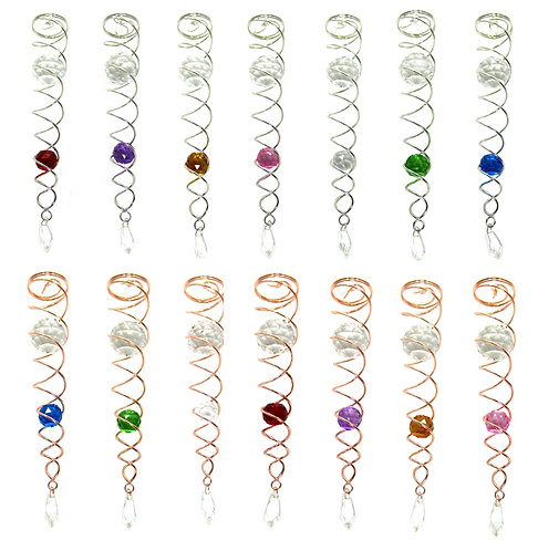 WorldaWhirl Double Wire Spiral Cyclone Tails, Choose Size and Color