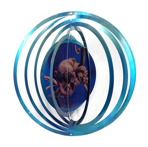 WorldaWhirl 3D Wind Spinner, Octopus, Multi