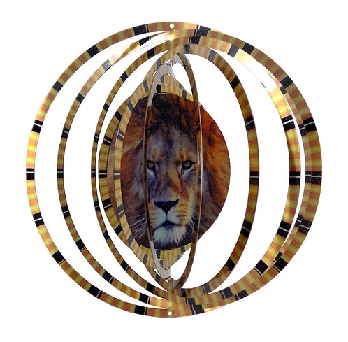 WorldaWhirl 3D Wind Spinner, Lion, Multi