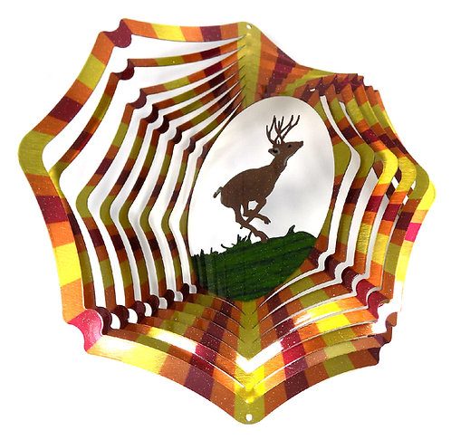 WorldaWhirl 3D Wind Spinner, Deer Multi Copper