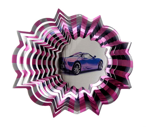 WorldaWhirl 3D Wind Spinner, Race Car, Multi