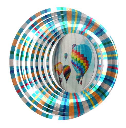WorldaWhirl 3D Wind Spinner, Hot Air Balloon, Multi