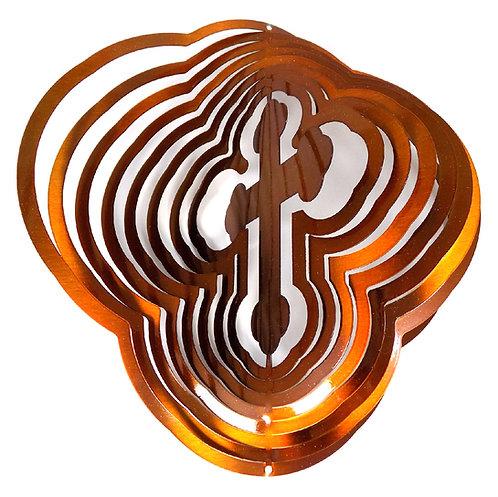 WorldaWhirl 3D Wind Spinner, Cross Copper