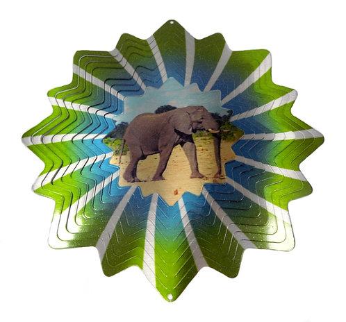 WorldaWhirl Wind Spinner, Elephant, Multi