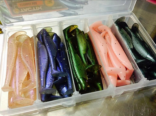 "Gobblers Lures 3"" Paddle Tail Kit -30 Lures"