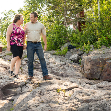 Mr. & Mrs. Thesing - Wedding Elopement at the Breezy Point Cabins on Lake Superior - Two Harbors, MN