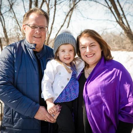 Morgan + Grandparents - Mini Session In Home - Maple Grove, MN