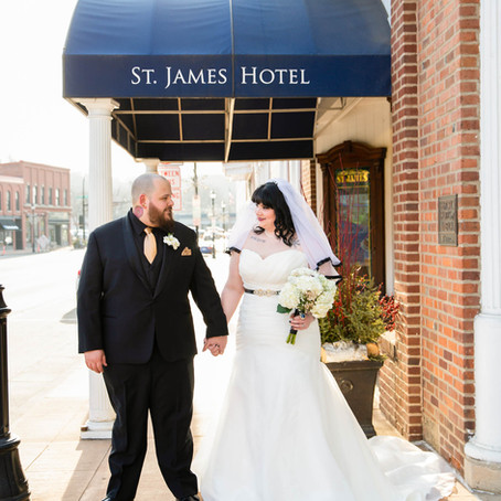 Mr. & Mrs. Baker - Wedding Day at the St. James Hotel